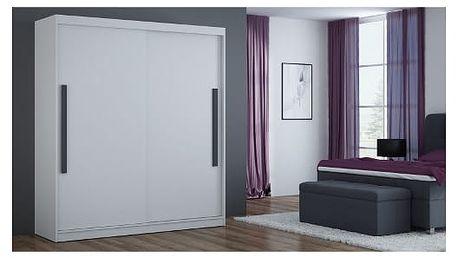 Šatní skříň 180 cm BONA bílá