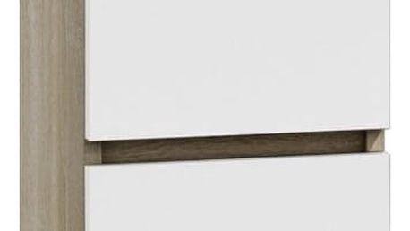 Noční stolek M2 Dub sonoma/bílá