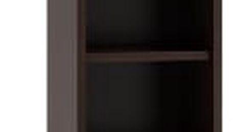 Koupelnová skříňka s regálem 30 cm wenge/bílá