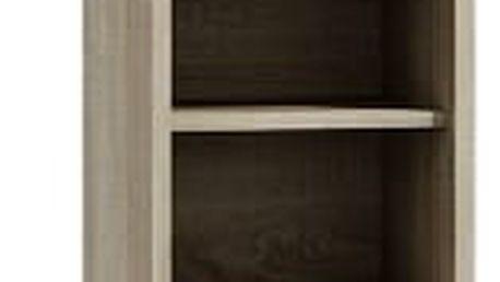 Koupelnová skříňka s regálem 40 cm dub sonoma/bílá