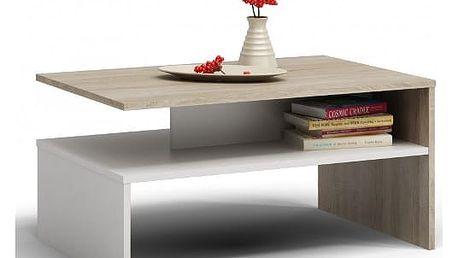 Konferenční stolek BOSTON sonoma/bílá