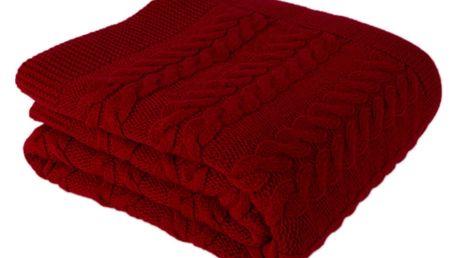 Červený přehoz přes postel Tufalo, 130 x 170 cm