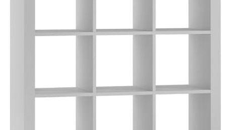 Regál nebo knihovna 3x3