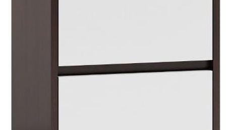Noční stolek K2 wenge/bílá