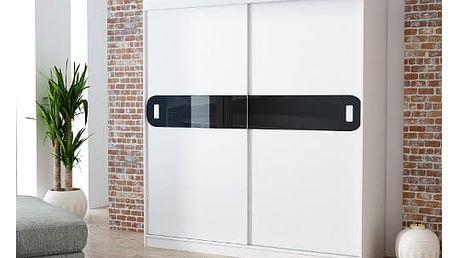 Šatní skříň 180 cm LAGO bílá