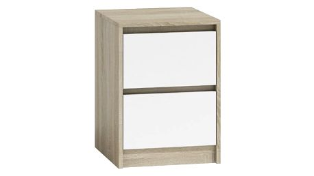 Noční stolek K2 Dub sonoma/bílá