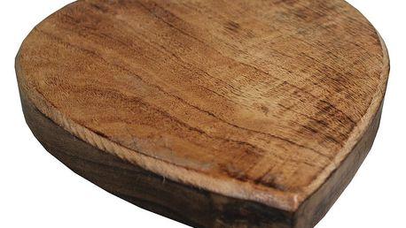 Dřevěná podložka pod hrnec Antic Line Heart