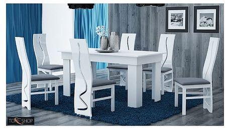 Jídelní stůl 160 cm bílá