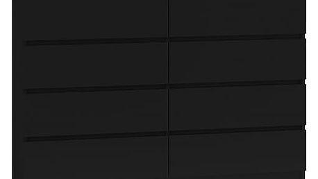 Komoda 8 šuplíků Malva 140 černá