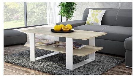 Konferenční stolek MARTINA sonoma/bílá