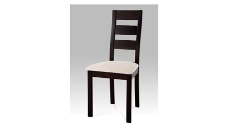 Jídelní židle BC-2603 BK - wenge/potah světlý