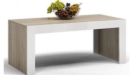Konferenční stolek DEKO D1 dub sonoma/bílá lesk