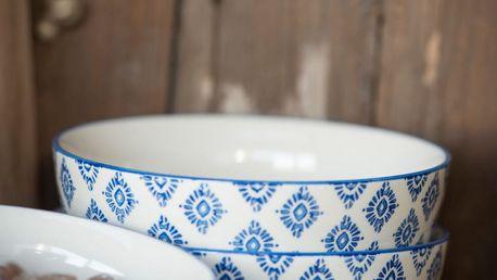 IB LAURSEN Miska Casablanca blue, modrá barva, keramika