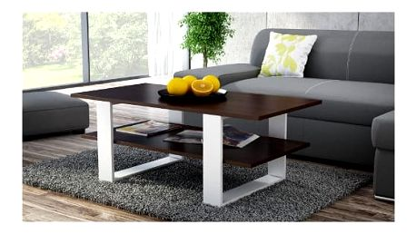 Konferenční stolek MARTINA wenge/bílá