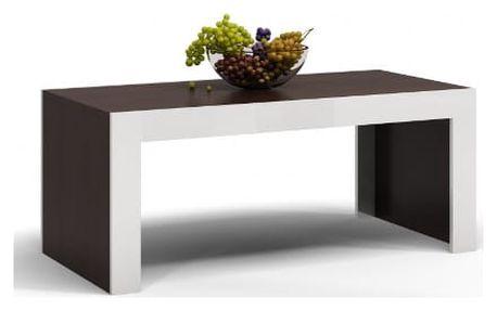 Konferenční stolek DEKO D1 wenge/bílá lesk