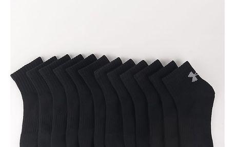 Ponožky Under Armour Charged Cotton 2 Quarter (6 Pack) Černá