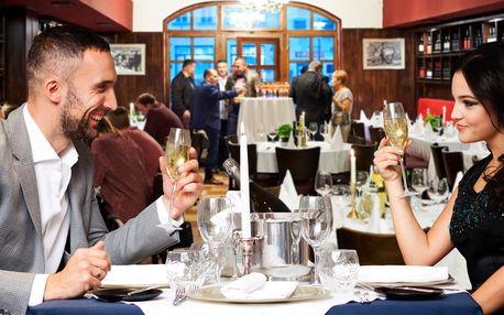 4chodové italské menu pro dva s lahví prosecca