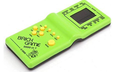 Retro hračka s populární hrou tetris