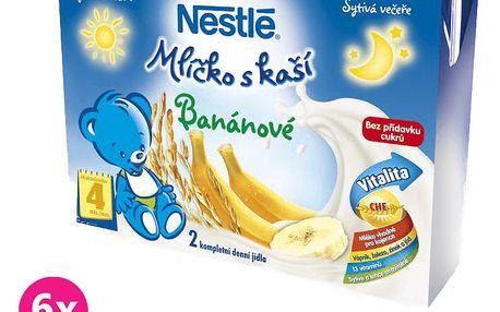 6x NESTLÉ Banánové mlíčko s kaší (2x200 ml)