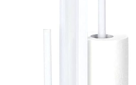 Stojan na toaletní papír a WC štětku RIVALTA WHITE - 3 v 1 , WENKO