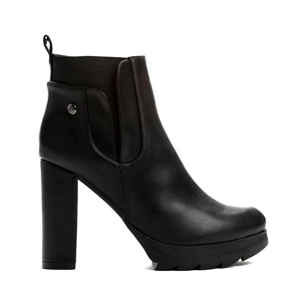 Dámské černé lesklé kotníkové boty Bridie 1341a