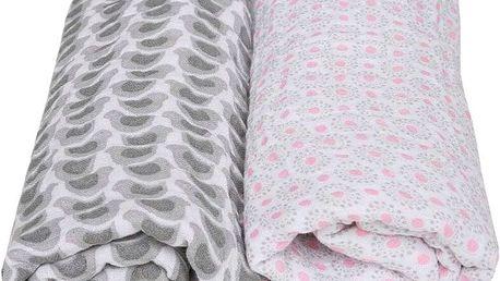 MOTHERHOOD Premium Mušelínové bavlněné pleny (100x120 cm) - šedý ptáček