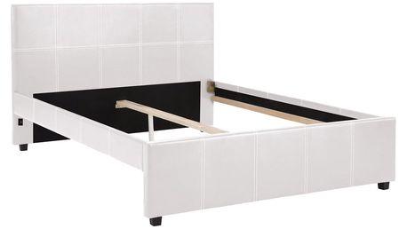 Bílá dvoulůžková postel Støraa Margit, 140x200cm