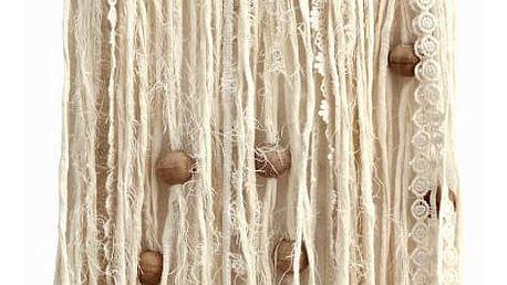 MADAM STOLTZ Lapač snů s korálky White, bílá barva, textil