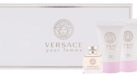 Versace Versace Pour Femme dárková kazeta pro ženy parfémovaná voda 5 ml + tělové mléko 25 ml + sprchový gel 25 ml