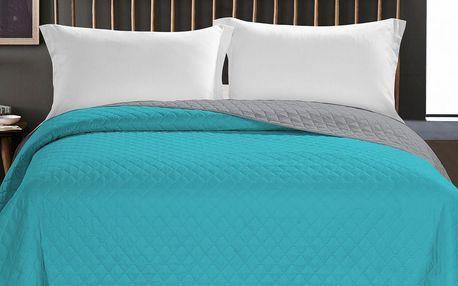 DecoKing Přehoz na postel Axel tyrkysová, 220 x 240 cm