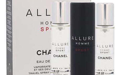 Chanel Allure Homme Sport 3x 20 ml 20 ml EDT Twist and Spray M
