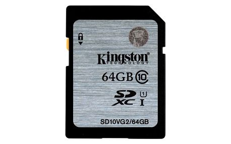Paměťová karta Kingston SDXC 64GB UHS-I U1 (45R/10W) (SD10VG2/64GB)