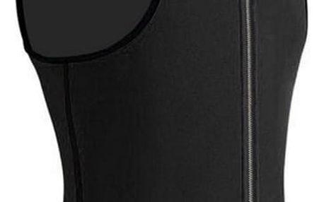 Pánská vesta na hubnutí v černé barvě - 5 velikostí