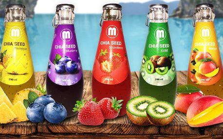 Zdravé a chutné nápoje s chia semínky a ovocem