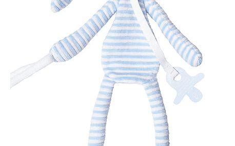 HAPPY HORSE Modrý pruhovaný králíček Reece Přítulka, 30 cm