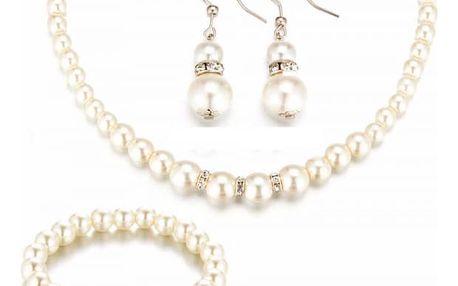Set šperků - náušnice, náhrdelník, náramek