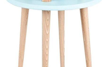 Světle tyrkysový konferenční stolek Ragaba UFO,Ø45 cm