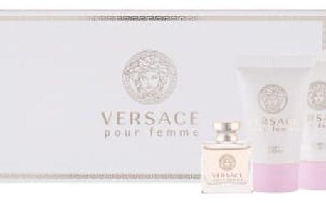 Versace Versace Pour Femme 5 ml dárková kazeta dárková sada pro ženy parfémovaná voda 5 ml + tělové mléko 25 ml + sprchový gel 25 ml