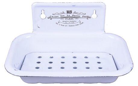Bílá smaltovaná mýdlenka Ego Dekor Boutique