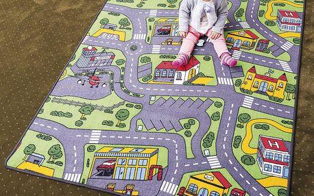 Vopi Dětský koberec City life, 200 x 200 cm