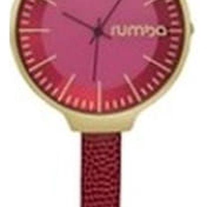 Dámské vínově červené hodinky s koženým řemínkem Rumbatime Orchard