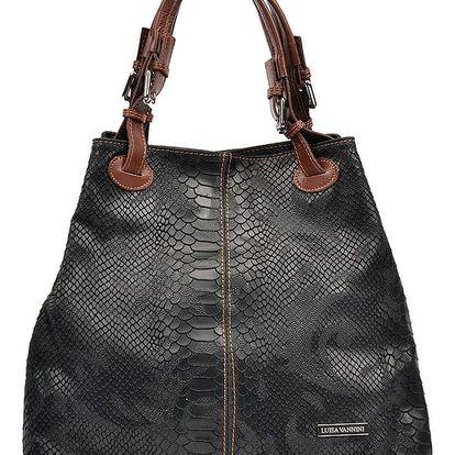 Černá kožená kabelka Luisa Vannini Marcelle
