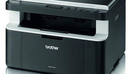 Tiskárna multifunkční Brother DCP-1512E černá/šedá (A4, 20str./min, 2400 x 600, 16 MB, USB) + dárek (DCP1512YJ1)