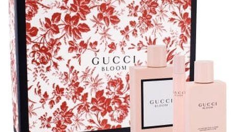 Gucci Bloom dárková kazeta pro ženy parfémovaná voda 100 ml + tělové mléko 100 ml + parfémovaná voda 7,4 ml
