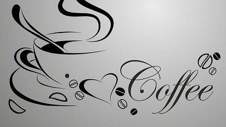 Samolepka na zeď pro kafíčkáře