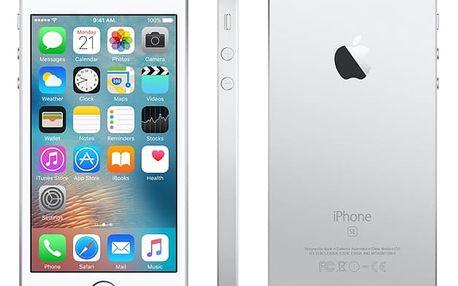 Mobilní telefon Apple iPhone SE 128 GB - Silver (MP872CS/A) + DOPRAVA ZDARMA