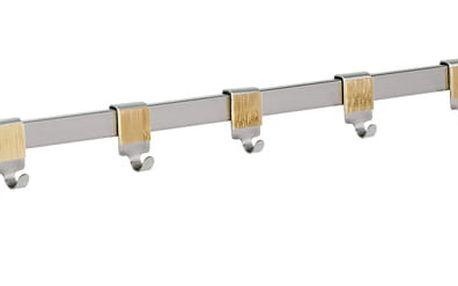 Kuchyňská polička na koření s obrubovými lištami + 10 háčků, Bamboo Premium, WENKO