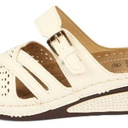 Dámské zdravotní pantofle KOKA 11 bílé