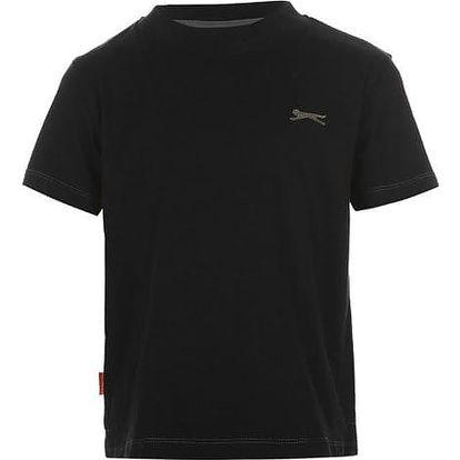 Značkové dětské tričko Slazenger černé