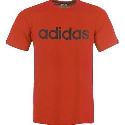 Pánské tričko ADIDAS Linear červené